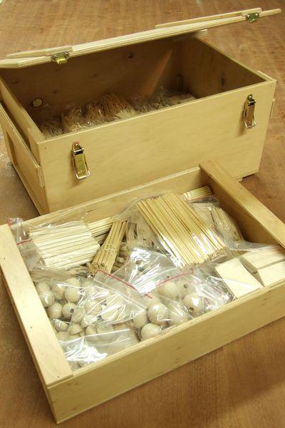 Drewniana skrzynia skarbów