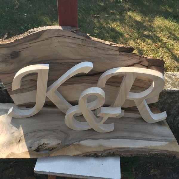 Drewniane Dekoracje ślubne Wycinane Litery Wodereu