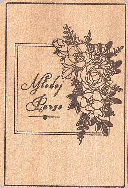 Drewniane Dekoracje ślubne Kartki Pocztowe Wodereu
