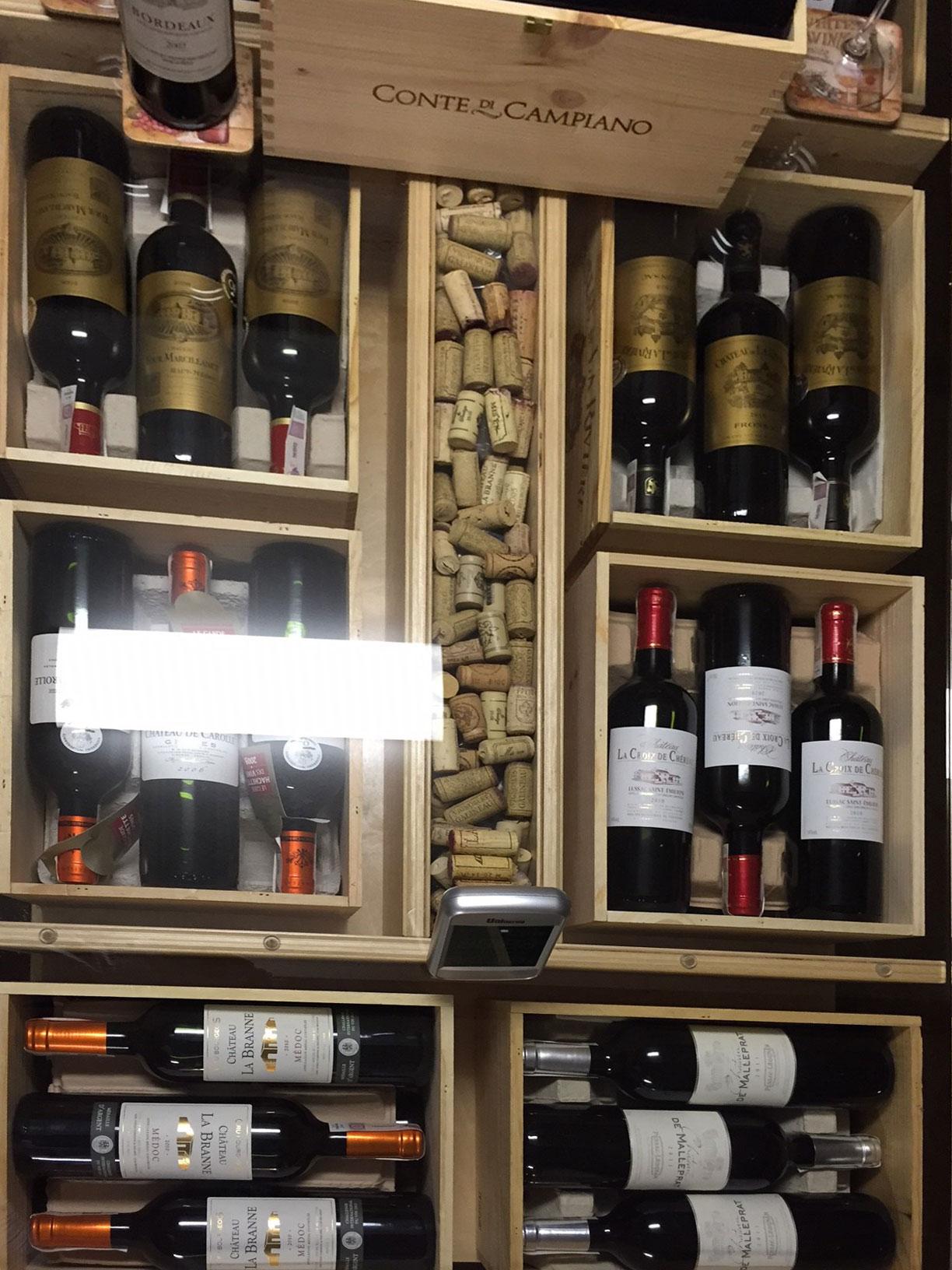 Drewniane regaly do wina