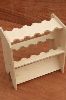 Drewniany stojak na wędki (10 szt.)