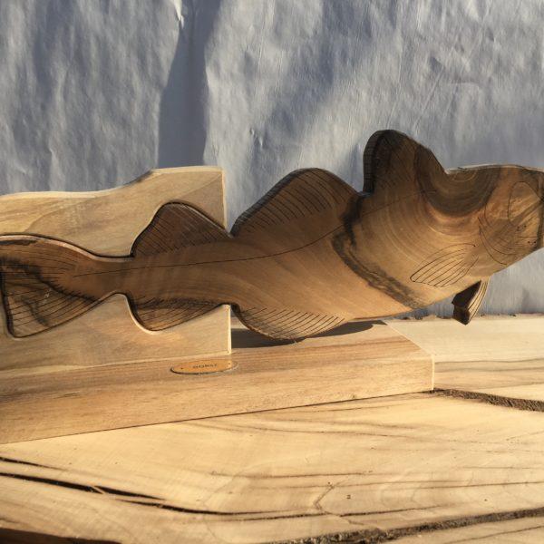 Drewniane trofeum wędkarskie – Dorsz