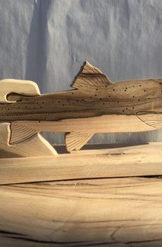 Drewniane trofeum wędkarskie – Głowacica