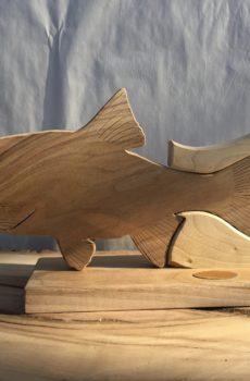 Drewniane trofeum wędkarskie – Jaź