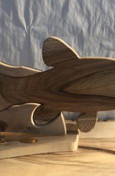 Drewniane trofeum wędkarskie – Lin