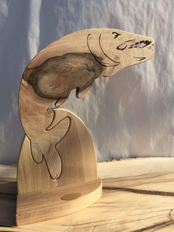 Drewniane trofeum wędkarskie – Szczupak