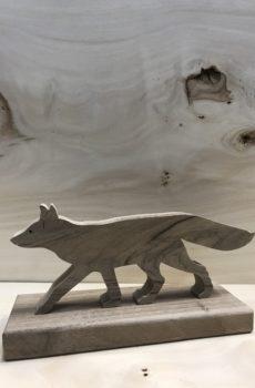 Drewniane zwierzę leśne - Lis