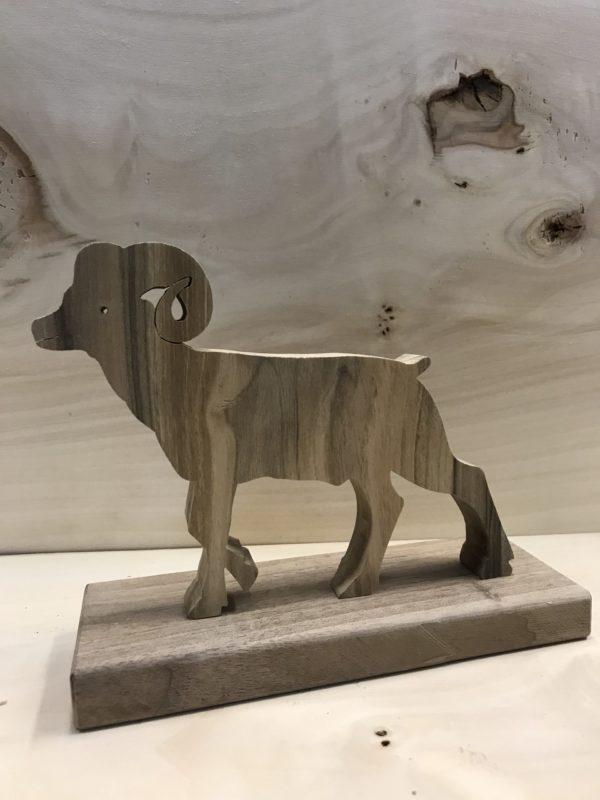 Drewniane zwierzę leśne - Muflon