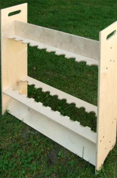 Drewniany stojak na wędki (20 szt.) z uchwytem