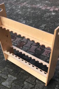 Drewniany stojak na wędki (24 szt.) z uchwytem