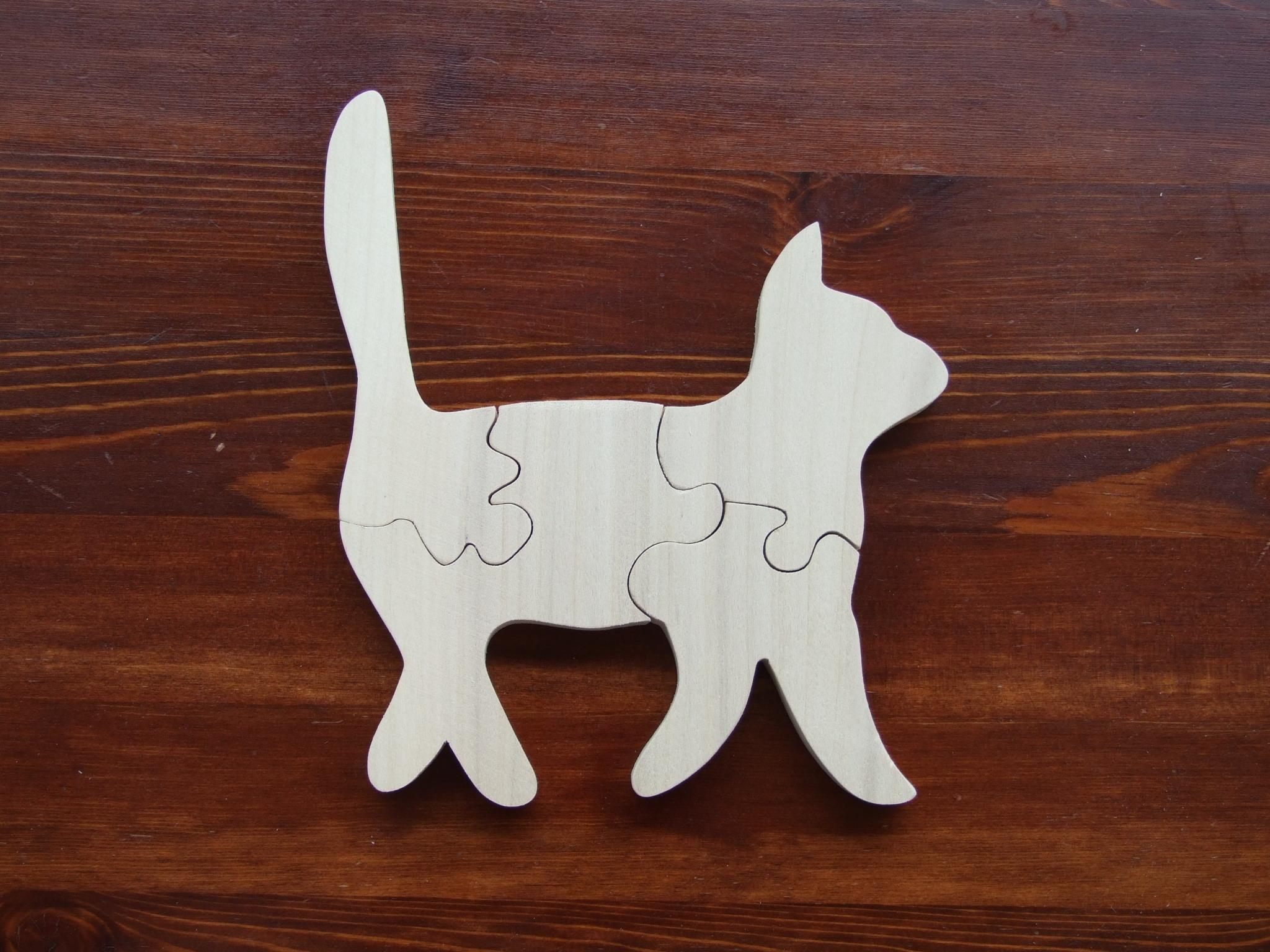 Genialny Drewniane puzzle Kot 01 – WODER.eu UP86