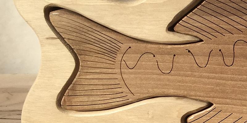 Drewniane trofea wędkarskie