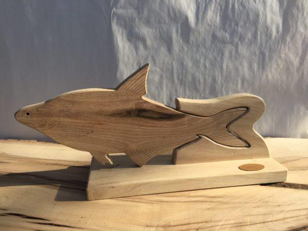 Drewniane trofeum wędkarskie – Rozpiór