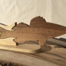 Drewniane trofeum wędkarskie – Sandacz