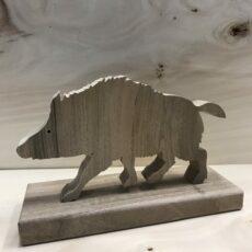 Drewniane zwierzę leśne - Dzik