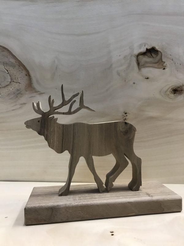 Drewniane zwierzę leśne - Jeleń