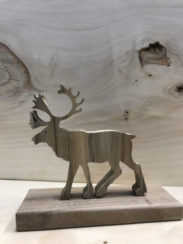 Drewniane zwierzę leśne - Renifer