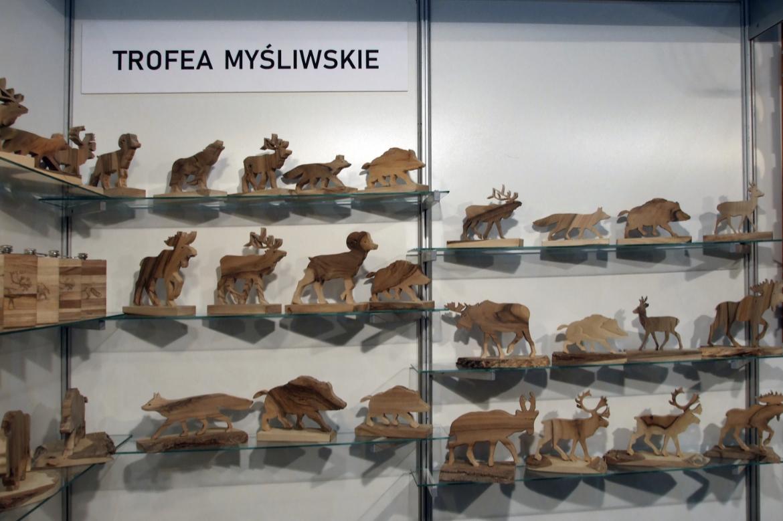 """Trofea myśliwskie firmy Woder na targach wędkarskich """"Rybomania"""", Międzynarodowe Targi Poznańskie, 2019 r."""